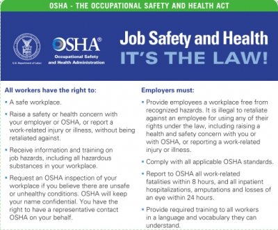 June is National Safety Month Download the free OSHA poster