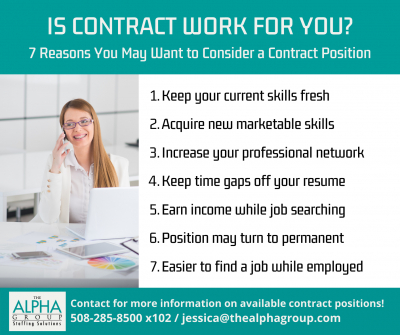 7 Reasons Contract Work May Be for You