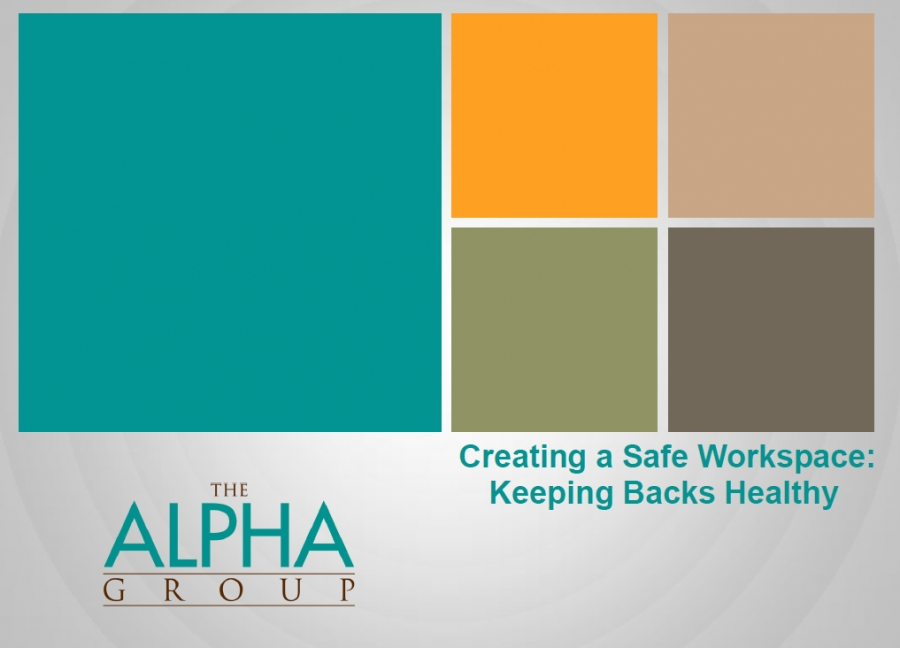 Healthy backs in the work place (Complimentary Powerpoint