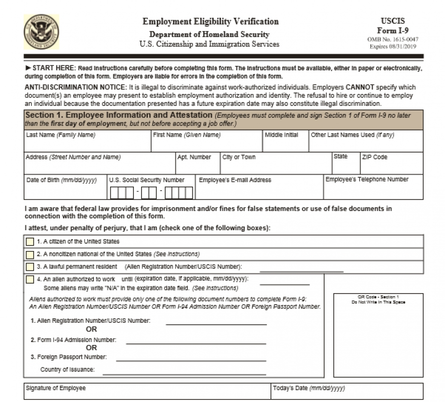 New I-9 Form available to download - The Alpha Group: Staffing ...